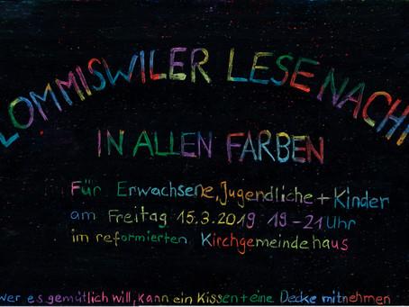 Lesenacht vom 15.03.19  'In allen Farben'