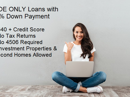 VOE Only Mortgage to Buy Your House No Tax Returns I No Paystub I 5% Down Payment I 640+ Credit