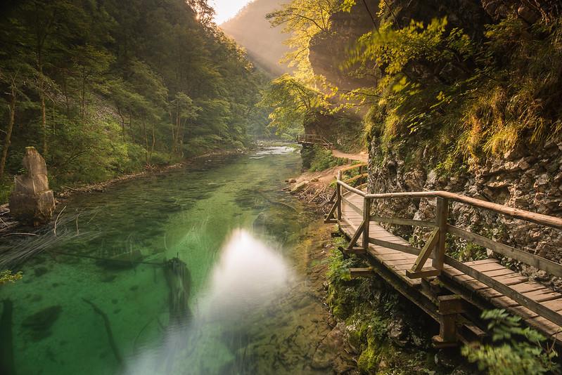 pont gorge vintgar au soleil
