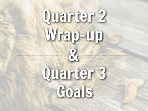 Quarter 2 Wrap-up & Quarter 3 Goals