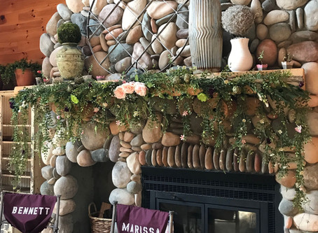 DIY Floral Mantle Or Wall Hanging.