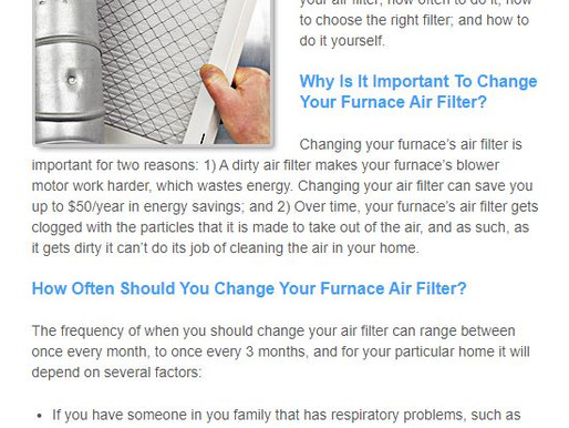 Guide to Choosing & Changing HVAC Air Filters