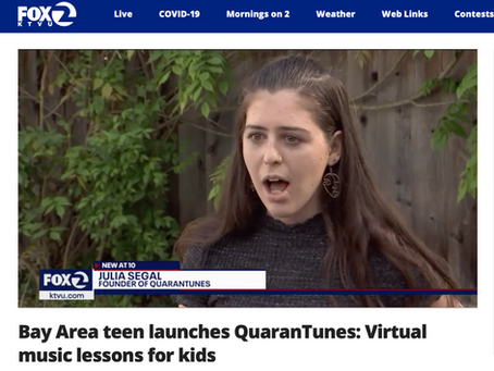 KTVU Covers: Bay Area Teen Launches QuaranTunes