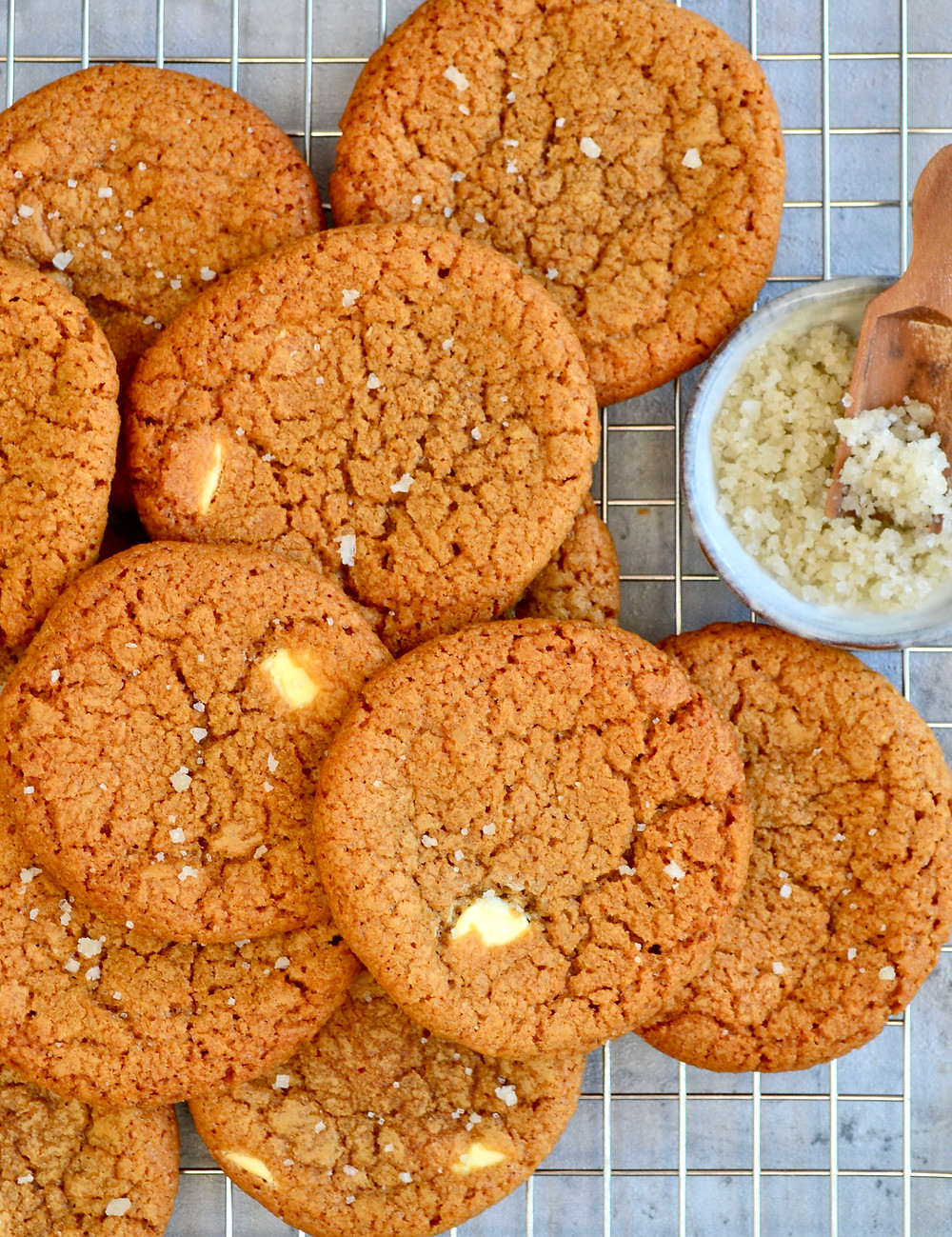 Witte chocolate chip cookies
