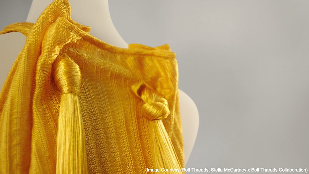 (Image Courtesy: Bolt Threads, Stella McCartney x Bolt Threads Collaboration)