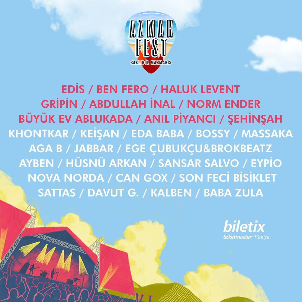 Unutamayacağın bir festival gümbür gümbür geliyorrr!🔥🔥 #AzmakFest'te kimler mi var? 👇 Biletler Biletix'te.