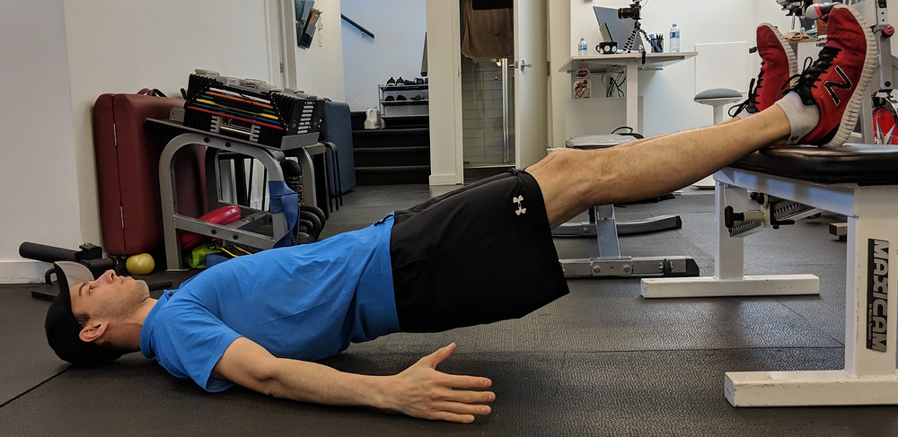 More advanced hamstring exercise.