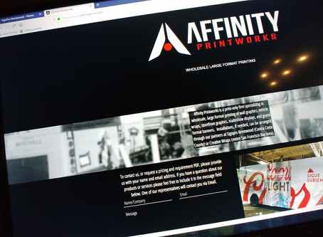 Our Sister Company Affinity Printworks Website Is Up and Running!