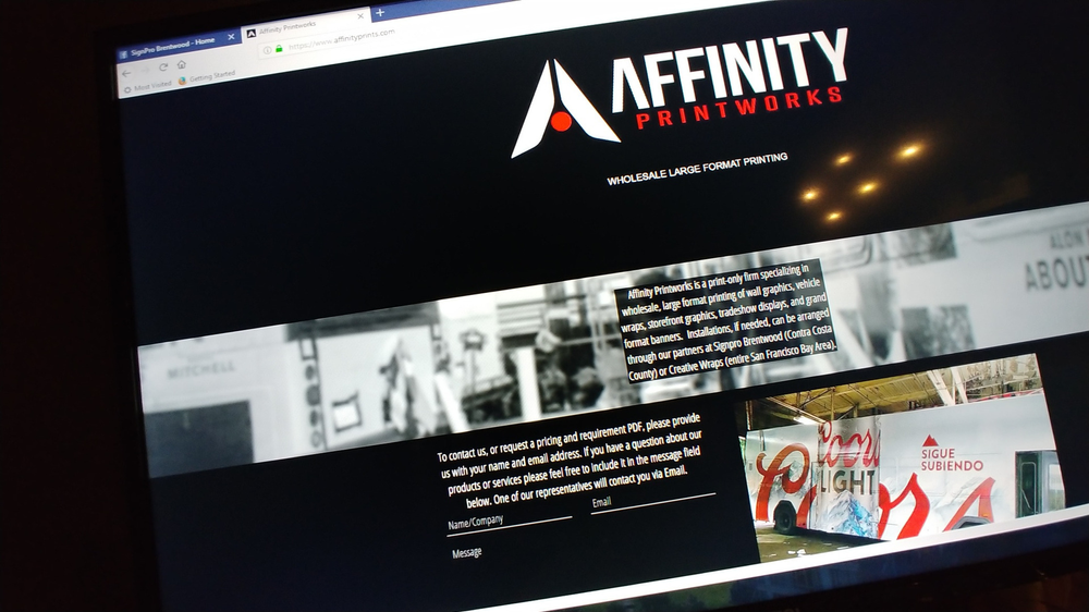 Our Sister Company Affinity Printworks Website Is Up and