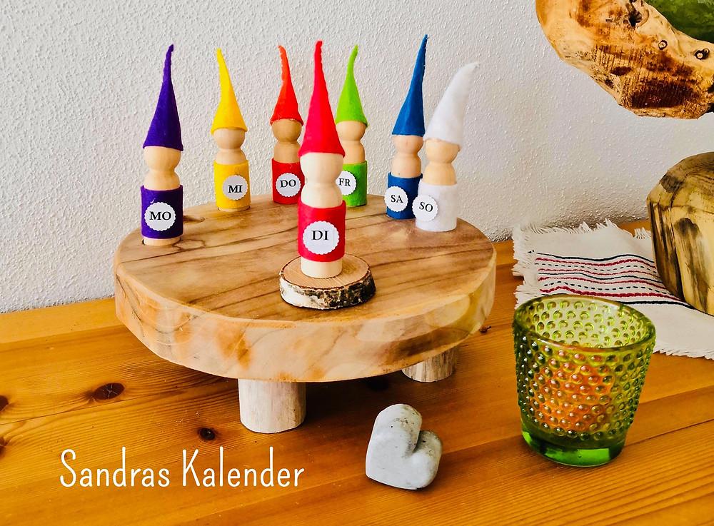 Wochenkalender, Wochentage, Jahreszeiten, Kalender für Kinder