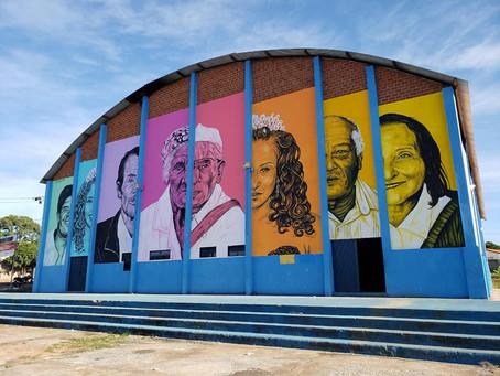 Ginásio ganha mural com arte urbana e traz visibilidade para brasilminenses