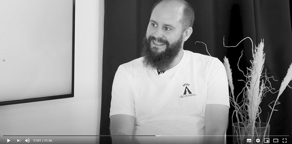Im Video-Podcast Was isch los ist Christopher Wertz von Fächerbräu Karlsruhe zu Gast.