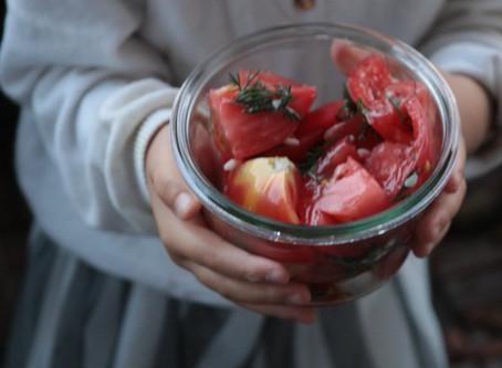 トマトと麹の簡単マリネ