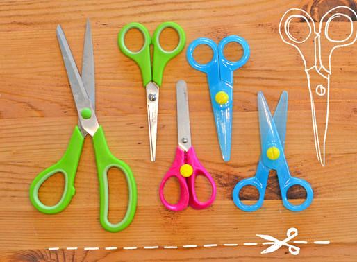 Ako naučiť deti strihať nožničkami