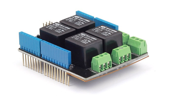 Управляйте устройствами с питанием от сети с помощью  релейного щита Arduino