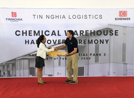 Chemical Warehouse handover to DB Schenker.