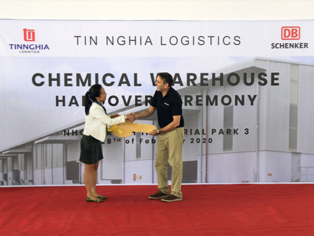 Chemical Warehouse handover to DB Schenker.