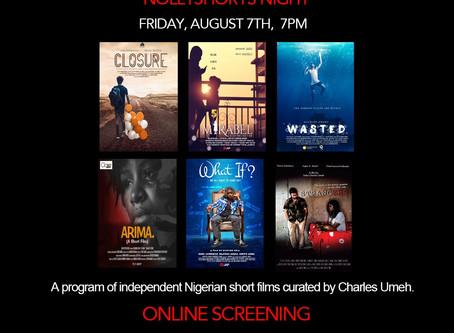 """NOLLYSHORTS NIGHT"" Online Screening"