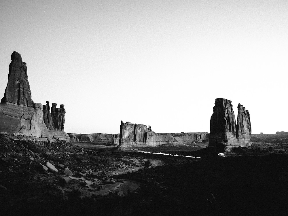 Three Gossips, Tower of Babel, and The Organ at Arches National Park in Moab, UT at sunrise