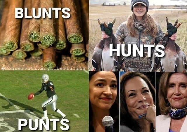 Blunts Punts Hunts Cunts