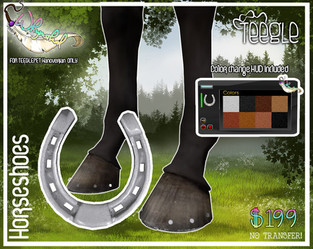 ::Whymsikal:: TeeglePet Horse Shoes