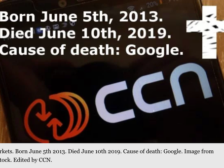 CCN is shutting down,  due to Google core update.