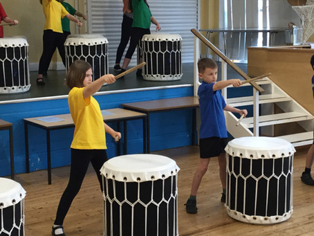 Taiko Drumming at our School