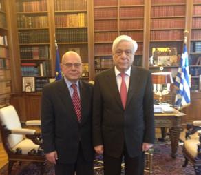 Δεκτός από τον Πρόεδρο της Δημοκρατίας κ. Προκόπη Παυλόπουλο έγινε πρόσφατα ο Νότης Μαρτάκης.