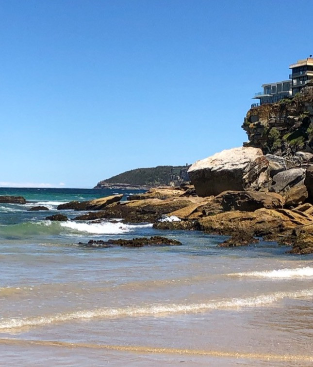 freshwater beach, australia, rocky shore, ocean, travel, vacation