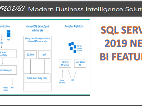 SQL Server 2019 New Business Intelligence Features