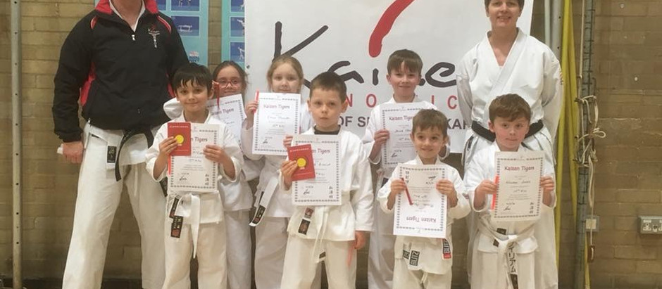 KNM Tigers Grading with Sensei Andrew Jones 5th Dan JKS Wed 14th & Thur 15th March 2018