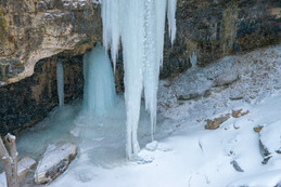Ice formation at the Elora Gorge in Ontario