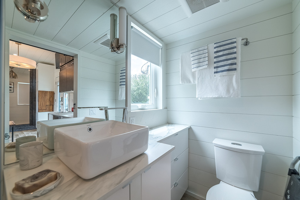 Tiny Home Bathroom Storage Movable Roots