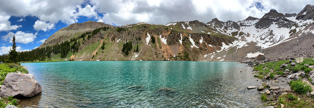 Blue Lake trail in Colorado United States