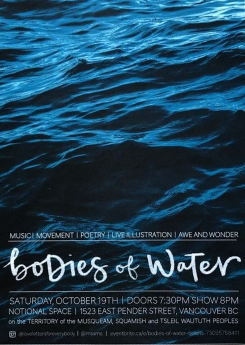 Bodies of Water Multidisciplinary Art Performance