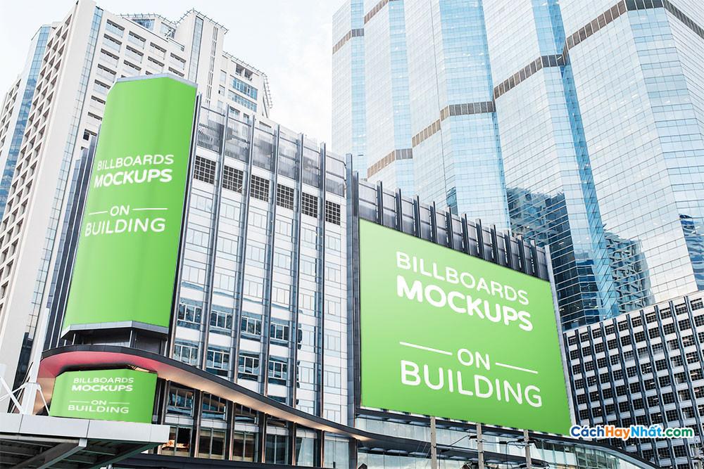 Download File Billboards Mockup on Building PSD Part 01