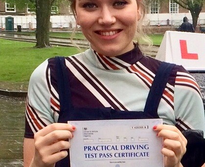 Well done Katie on passing your driving test First Time with only a few minor driving faults.