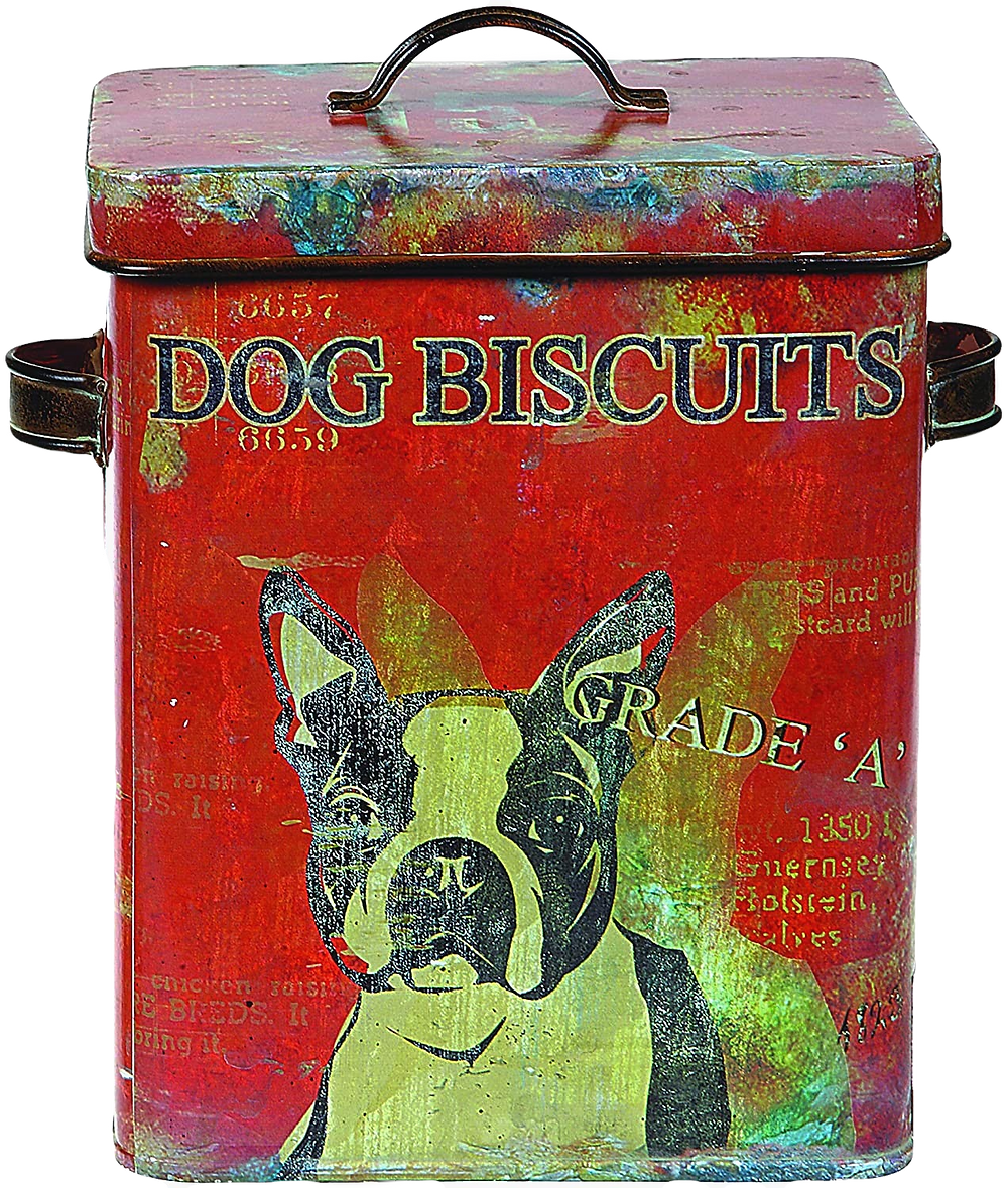 distressed boston terrier tin