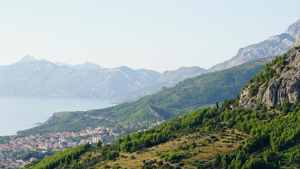View of Makarska from Kotisina village