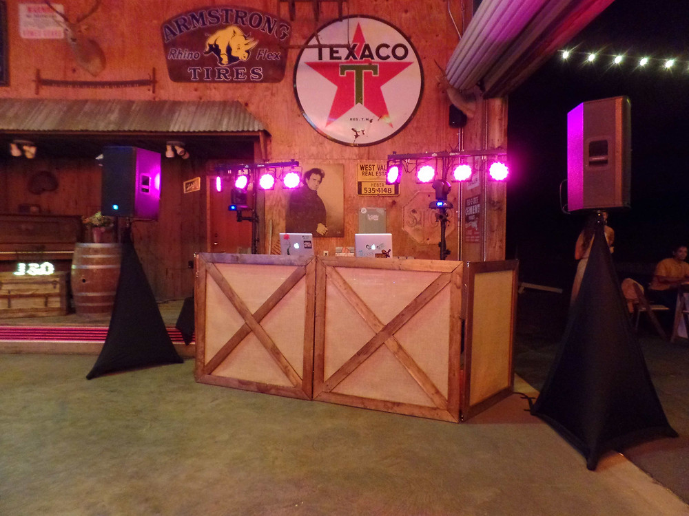 Rustic DJ Booth in Nevada County for Weddings