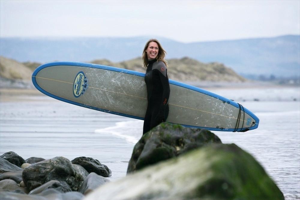 Surfing in Ireland -Surfing at Strandhill Beach, Co. Sligo