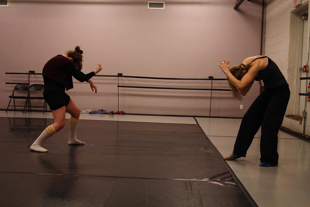 Lisa Weiler (choreographer) Anna Stanutz, Joy Lee (interpreters)