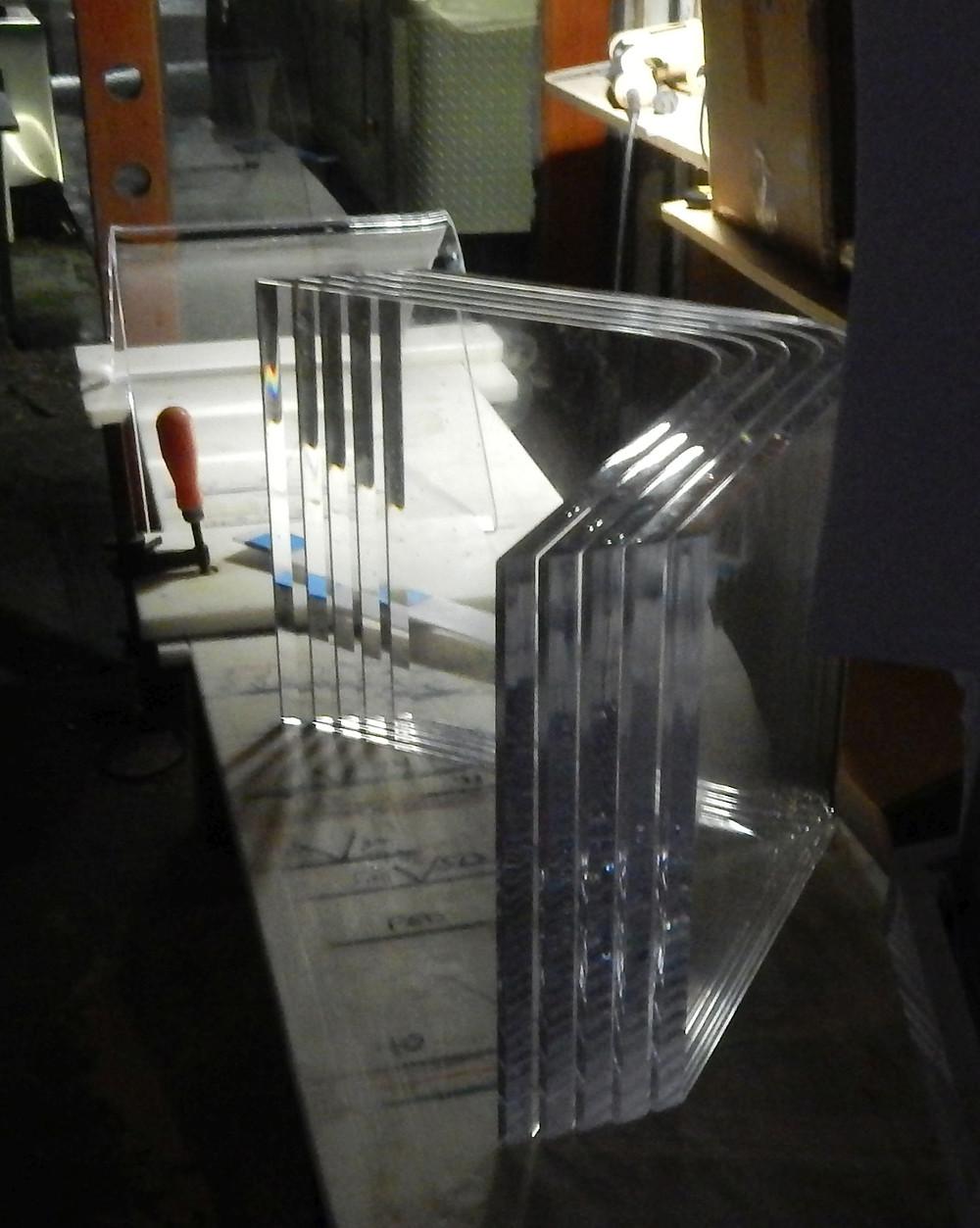 clear acrylic table bases