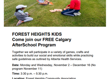 After School Program (Forest Heights, Forest Lawn and Marlborough Park)