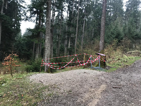 Bike Parcours Hapferen gesperrt