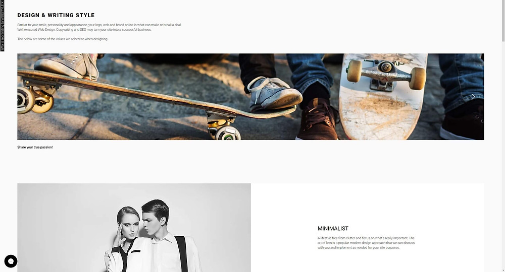 WEBSTYLE X Blog - New STYLE page