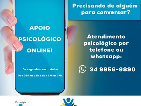 Secretaria disponibiliza número para atendimento psicológico de urgência