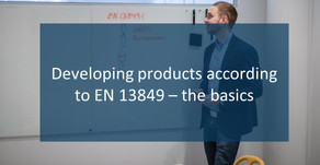 Developing products according to EN ISO 13849 - the basics