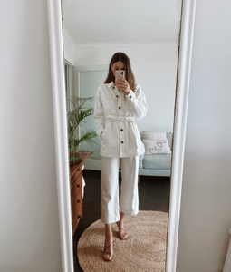 White Shacket Outfits