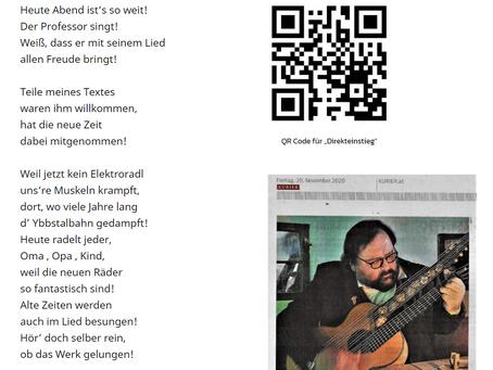 Waidhofener Lied geht online - Piaty macht's möglich